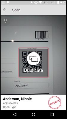 Duplicate Scanning
