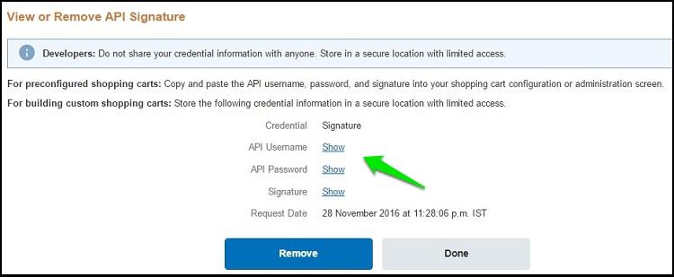 PayPal Signature