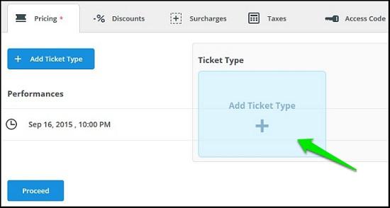 Add Ticket Types