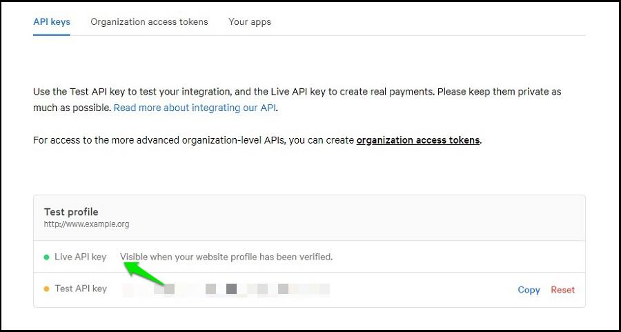 Mollie API Key