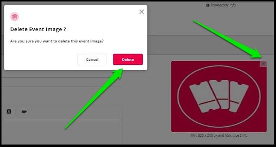 Delete existing Image