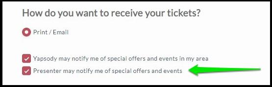 Receive Tickets